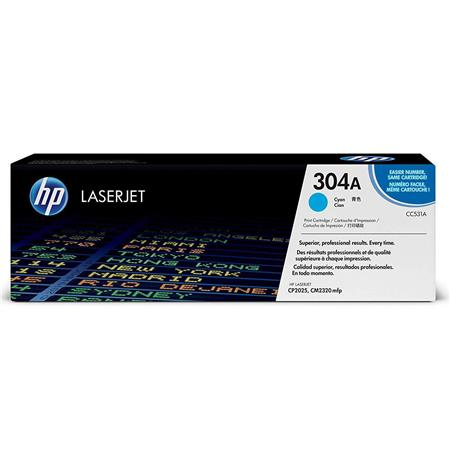 HP Cyan Print Cartridge for the Color LaserJet CP2025 & HP Color LaserJet CM2320 MFP Printers, Yield: 2800 Pages