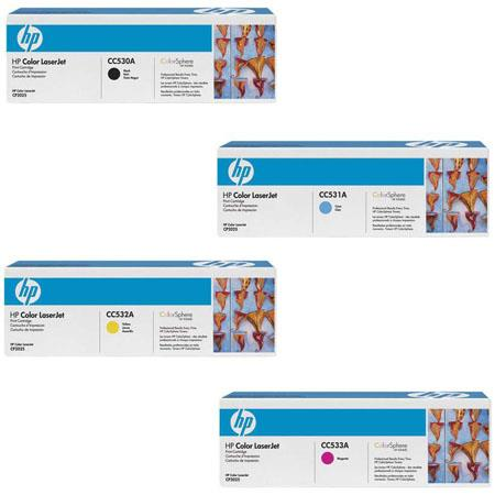 HP 4 Color Laserjet Toner Cartridge Set for CP2025 & CM2320 Series