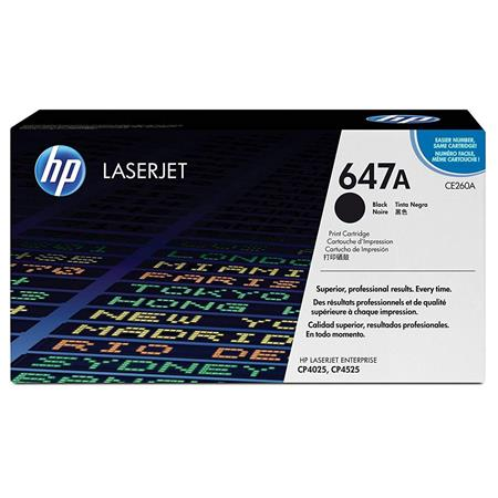 HP CE260A Color LaserJet Black Print Cartridge - Page Yield: 8,500 Pages for HP Color LaserJet CP4025dn,CP4025n,CP4525dn,CP4525n,CP4525xh