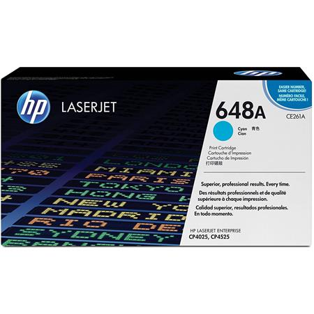 HP CE261A Color LaserJet Cyan Print Cartridge - Page Yield: 11,000 Pages for HP Color LaserJet CP4025dn,CP4025n,CP4525dn,CP4525n,CP4525xh