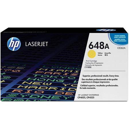 HP CE262A Color LaserJet YELLOW Print Cartridge - Page Yield: 11,000 Pages for HP Color LaserJet CP4025dn,CP4025n,CP4525dn,CP4525n,CP4525xh