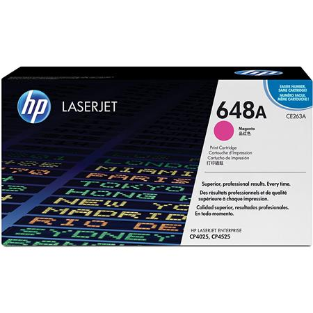 HP CE263A Color LaserJet Magenta Print Cartridge - Page Yield: 11,000 Pages for HP Color LaserJet CP4025dn,CP4025n,CP4525dn,CP4525n,CP4525xh