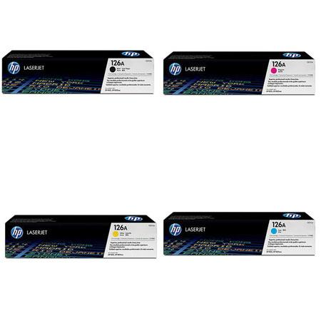 HP Complete 4 Color Toner Set for the M175nw, M275, CP1025nw Printers