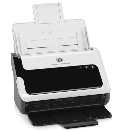 HP Scanjet Professional 3000 Sheet-Feed Scanner, 600 dpi Resolution, 20 ppm/40 ipm Speed, Hi-Speed USB 2.0