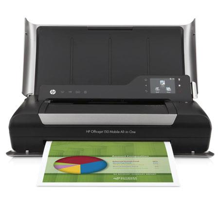 HP OfficeJet 150 Mobile All-In-One Inkjet Printer, Up to 22 ppm (Black) & 18 ppm (Color), 50 Sheets Input, USB 2.0 - Print, Copy, Scan