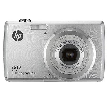 "Hewlett Packard HP-S510 16MP Digital Point & Shoot Camera, 5x Optical 5x Digital Zoom, 2.7"" LCD Screen, USB, 720P HD Video, SD/SDHC Card up to 32GB"