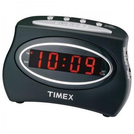 Timex T101B Extra Loud LED Alarm Clock, Black image