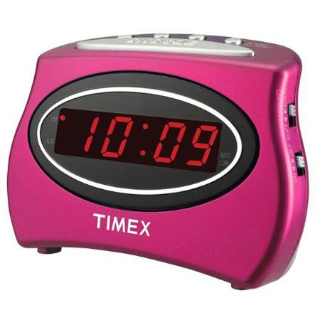 Timex T101NP Extra Loud LED Alarm Clock, Nano Pink image