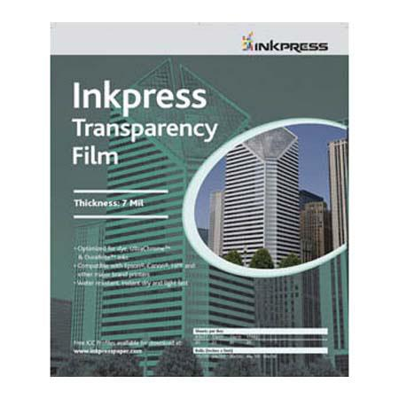 "Inkpress Transparency Film, 10 mil., 8.5x11"", 500 Sheets"