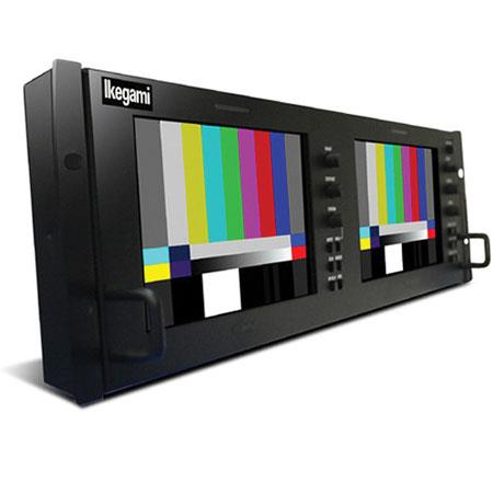 "Ikegami 7"" Dual HDTV/SDTV Multi-Format LCD Monitor, 800x480 Resolution, 1000:1 Contrast Ratio, 1000cd/m2 Brightness"