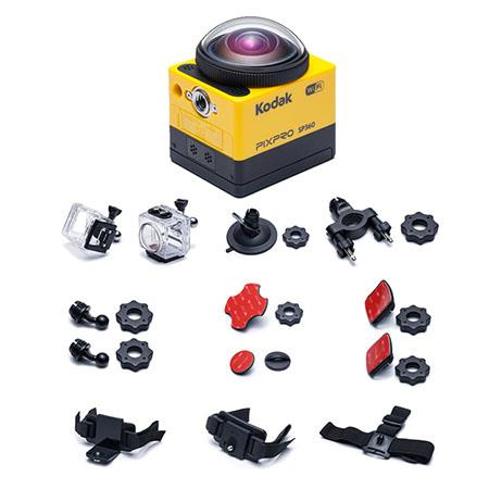"Kodak PIXPRO SP360 - Extreme Pack - Full HD 1080p Action Camera, 16MP, 17.52MP 1/2.33"" MOS Sensor, Built-In Wi-Fi/NFC Connectivity, HDMI/USB, Yellow"