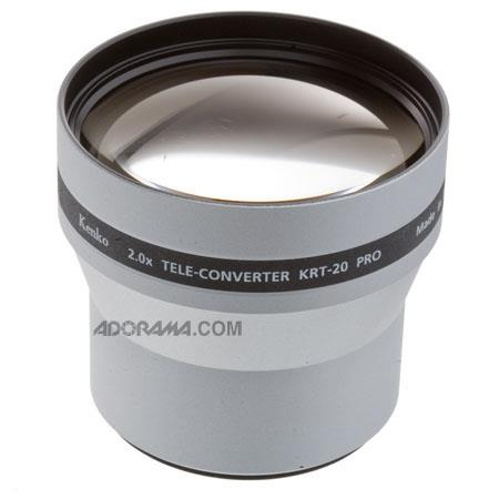 Kenko 2x Pro Telephoto Conversion Lens for Digital Still Cameras with a 58mm Mounting Thread.