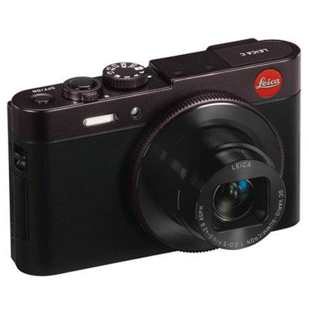 Leica C Compact Digital Camera, 12.1MP, with Wi-Fi & NFC, Fast DC Vario-Summicron lens, Manual Lens Ring Control, Full HD movie recording - Dark Red