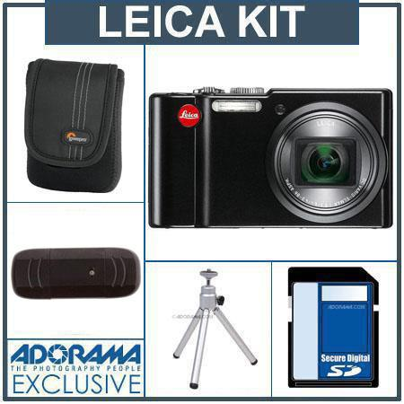Leica V-Lux 40 14.1 Megapixel Compact Digital Camera - Bundle - with 16GB SDHC Memory Cards , Camera Case, Table Top Tripod, USB 2.0 SD Card Reader