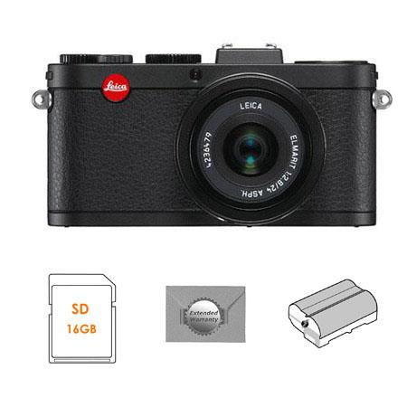 Leica X2 Compact Digital Camera with ELMARIT 24mm f/2.8 ASPH Lens - Bundle - with SanDisk 16GB, Extreme SDHC Memory Card, BP-DC8 Lithium-ion Battery & New Leaf 3 Year Digital Still Camera Extended Warranty