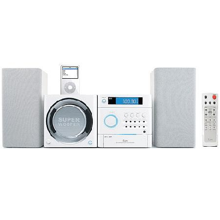 iLuv i7500 2.1 Channel Mini Audio System with MP3 Playback Capability and iPod Docking Station, White. image