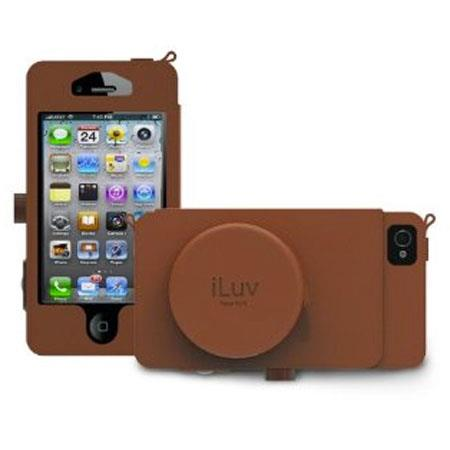 iLuv Premium Leather Camera Case for iPhone 5, Tan