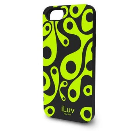 iLuv Aurora Glow-In-The-Dark Silicone Case for iPhone 5, Black