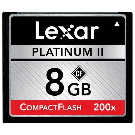 Lexar 8GB, 200x Platinum II High Speed Series, Compact Flash Memory Card