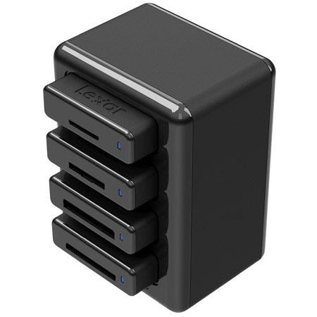 Lexar Professional Workflow HR1 - Four-Bay USB 3.0 Reader Hub - No Reader included, must be purchased seperately