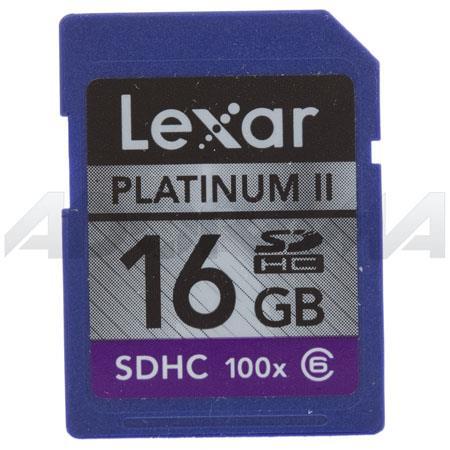 Lexar 16 Gb 100x Platinum II Series, Secure Digital High Capacity (SDHC) Memory Card image