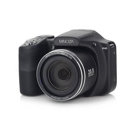 Minolta Minolta M35Z 20MP 1080p HD Bridge Digital Camera with 35x Optical Zoom, Black