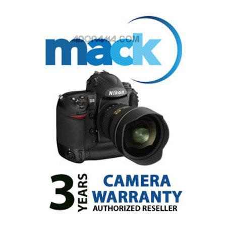 Mack 3 Year Digital Still Camera Extended Warranty (for Digital Cameras & Camera Lens Kits with a retail value of up to $2000.00) image