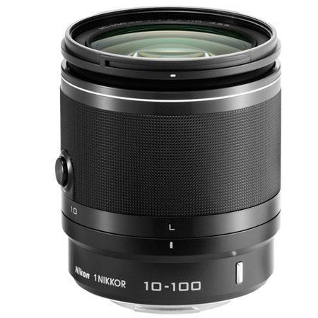 Nikon 1 10-100mm f/4.0-5.6 VR Lens for Mirrorless Camera, Black, USA Warranty