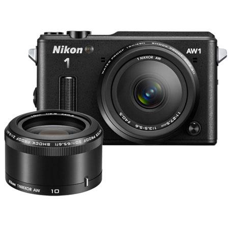 Nikon 1 AW1 Waterproof Mirrorless Digital Camera with Nikkor AW 11-27.5mm f/3.5-5.6 Lens & AW 10mm f/2.8 Lens, 14.2MP, 3.0