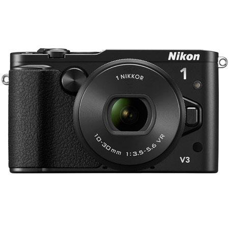 Nikon 1 V3 Mirrorless Digital Camera with 10-30mm f/3.5-5.6 PD-Zoom Lens, DF-N1000 Electronic Viewfinder & GR-N1010 Grip, 18.4MP, 3