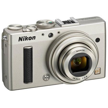 Nikon Coolpix A Digital Camera, 16.2 Megapixel, DX Format CMOS, 18.5mm Wide Angle Lens, Full HD 1080p Video, Silver