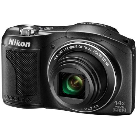 Nikon Coolpix L610 Digital Camera with 14x Optical Zoom-NIKKOR ED Glass Lens (25-350mm), 16.0 MP, Optical VR, Full HD (1080p) Movie, Black
