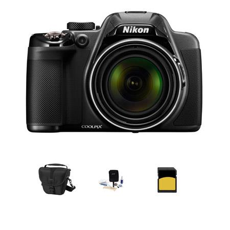 Nikon Coolpix P530 Digital Camera, 16.1MP, - Bundle With Camera Case, 16GB Class 10 SDHC Card, Cleaning kit