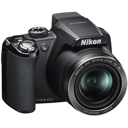 "Nikon Coolpix P90 Digital Camera with 12.1 Megapixel, 24x Optical Zoom, 4x Digital Zoom, 3"" LCD Display, Black image"