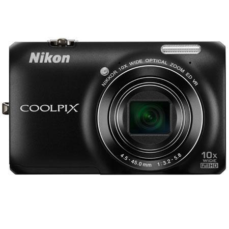 Nikon Coolpix S6300 16 Megapixel Digital Camera - Black - Refurbished by Nikon U.S.A.