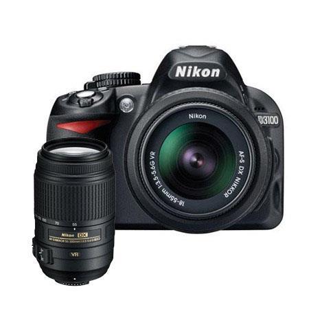 Nikon D3100 Digital SLR Camera with 18-55mm NIKKOR VR Lens, & Nikon 55 - 300mm f/4.5-5.6G ED AF-S DX VR II Zoom Lens, U.S.A. Warranty