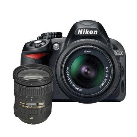 Nikon D3100 Digital SLR Camera with 18-55mm NIKKOR VR Lens, & Nikon 18mm - 200mm f/3.5-5.6G ED IF AF-S DX VR II Lens - U.S.A. Warranty