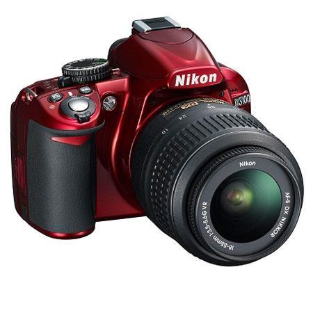 Nikon D3100 Digital SLR Camera with 18-55mm NIKKOR VR Lens - Red - Refurbished by Nikon U.S.A.