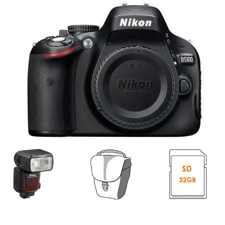 Nikon D5100 16.2 Megapixel DX-Format Digital SLR Camera Body with 3.0 inch LCD - Bundle - with Nikon SB-910 TTL AF Shoe Mount Speedlight, USA Warranty