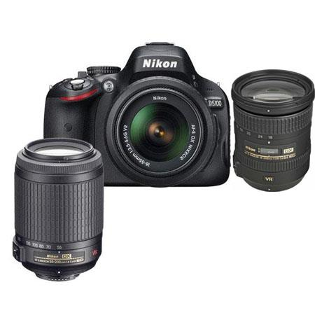 Nikon D5100 DX-Format Digital SLR Camera with 18-55mm VR & 55-200mm VR Lens, Camera Case, Nikon DVD - Bundle - with 18-200mm VR Lens