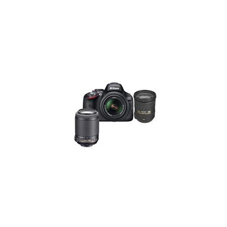 Nikon D5100 DX-Format Digital SLR Camera with 18-55mm VR & 55-200mm VR Lens, Camera Case, Nikon DVD - Bundle - with 18-200mm VR Lens