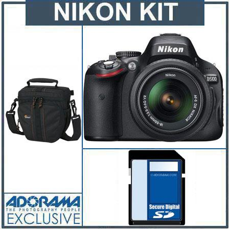 Nikon D5100 DX-Format Digital SLR Camera Kit with 18mm - 55mm f/3.5-5.6G AF-S DX (VR) Lens - Bundle - with 32GB SDHC Memory Card, Camera Bag