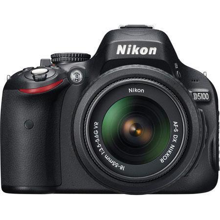 Nikon D5100 DX-Format Digital SLR Camera Kit with 18mm - 55mm f/3.5-5.6G AF-S DX (VR) Lens - Refurbished by Nikon U.S.A.