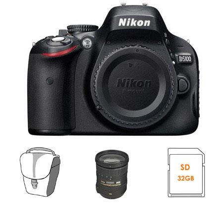 Nikon D5100 Digital SLR Camera with Nikon 18mm - 200mm f/3.5-5.6G ED IF AF-S DX VR II Lens - U.S.A. Warranty