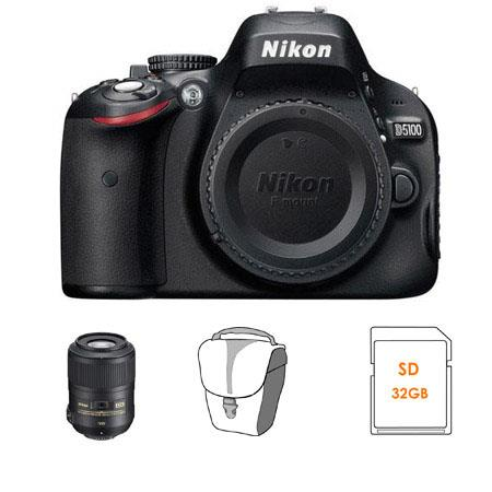 Nikon D5100 Digital SLR Camera Body with Nikon 85mm f/3.5G AF-S DX Micro ED (VR-II) Lens - U.S.A. Warranty