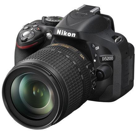 Nikon D5200 DX-Format Digital SLR Camera Kit with 18-105mm f/3.5-5.6G ED AF-S DX (VR) Lens - Black
