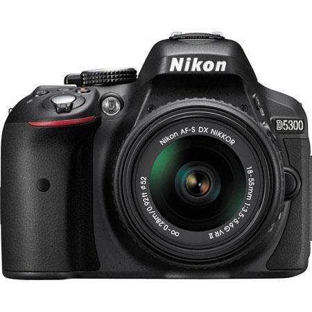 Nikon D5300 24.1MP DX-Format Digital SLR Camera with AF-S DX NIKKOR 18-55mm f/3.5-5.6G VR II Lens, Black