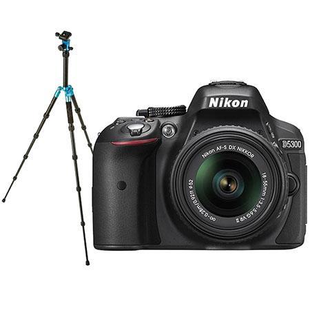 Nikon D5300 DX-Format DSLR Camera with AF-S DX NIKKOR 18-55mm f/3.5-5.6G VR II Lens, Black - Special Promotional Bundle