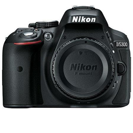 Nikon D5300 DX-Format Digital SLR Camera Body, Black - Refurbished by Nikon U.S.A.