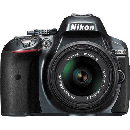 Nikon D5300 24.1MP DX-Format Digital SLR Camera with AF-S DX NIKKOR 18-55mm f/3.5-5.6G VR II Lens, Grey